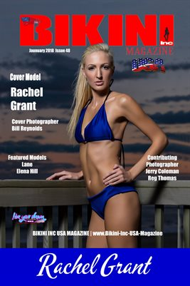 BIKINI INC USA MAGAZINE COVER POSTER - Cover Model Rachel Grant - January 2018