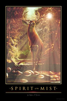 """SPIRIT of the MIST"" Whitetail Deer Wildlife Print by Stephen F. Gordon"