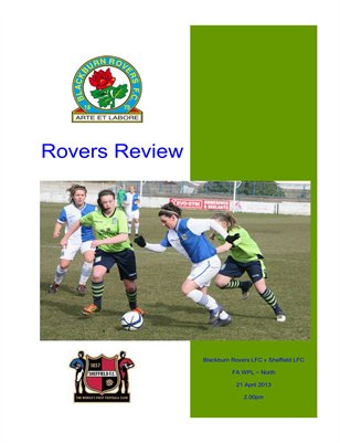 Blackburn Rovers Ladies v Sheffield Ladies LFC - Match Programme