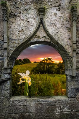 Mindfulness Art, Serene Sunset over County Clare, Poster