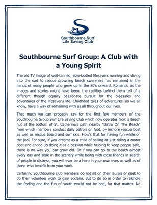 Southbourne Surf Group: A Club with a Young Spirit
