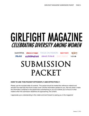 Girlfight Magazine Submission Packet