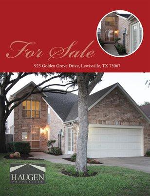925 Golden Grove, Lewisville, TX 75067 - Haugen Properties