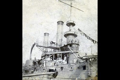 "1900 Sectional View of the U.S. Battleship ""Iowa"""