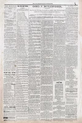(PAGES 3-4) MAY 7TH, 1881 MAYFIELD MONITOR NEWSPAPER, MAYFIELD, GRAVES COUNTY, KENTUCKY