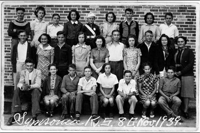 1939 8th Grade at Symsonia School