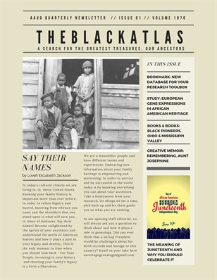 The Black Atlas Newsletter