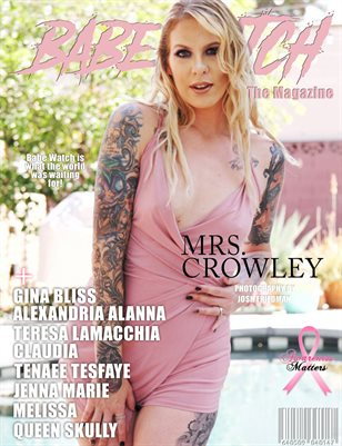 BABE WATCH MAGAZINE PINK ISSUE FT. MRS CROWLEY