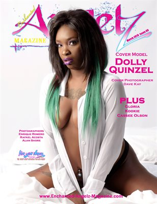 ENCHANTED ANGELZ MAGAZINE - Cover Model Dolly Quinzel - March 2019