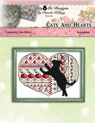 Cats And Hearts September Cross Stitch Pattern