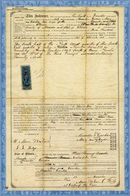 1869, Warranty Deed, Alexander Jourdan & Wife Mary Ann to Thomas Smitty