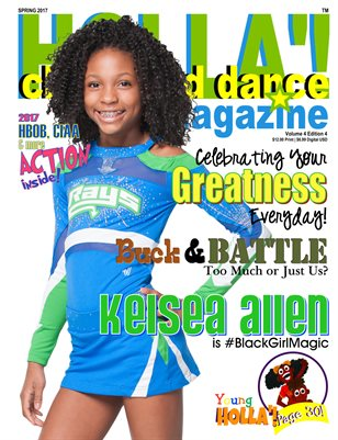 HOLLA'! Cheer and Dance Magazine Spring 2017 Issue