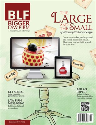 The Large and the Small of Attorney Website Design - December 2011