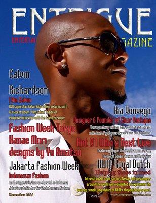 Entrigue Magazine December 2014 (Double Cover: Calvin Richardson & Kia Vonvega)