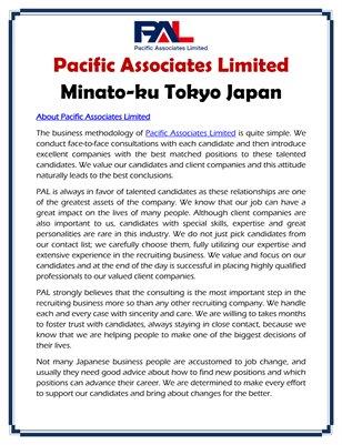 Pacific Associates Limited Minato-ku Tokyo Japan