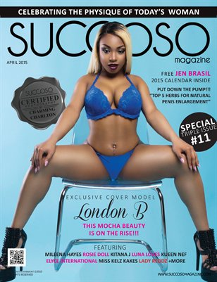 Succoso Magazine Triple Issue #11 ft Cover Model London B