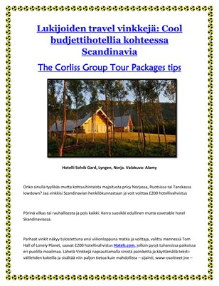 The Corliss Group Tour Packages tips