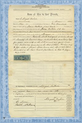 1887 Deed, Westlake to Westlake, Miami County, Ohio