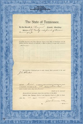 No.792 Warren County, Tennessee, In the Supreme Court, S.H. Newby vs. Jas. A. Jones, Nov. 1902