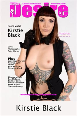 INTENSE DESIRE MAGAZINE COVER POSTER - Cover Model Kirstie Black - November 2020