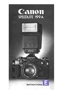 Canon Speedlite 199A Flash Unit Instruction Manual (English)