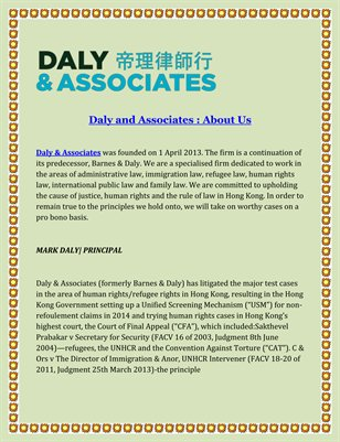 Daly and Associates : About Us