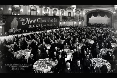 Annual Meeting & Banquet Chevrolet Salesman Dec. 11th 1930 Jefferson Hotel
