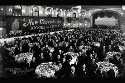 Annual Meeting & Banquet Chevrolet Salesman Dec. 11th 1930 Jefferson Hotel