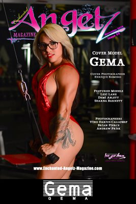 ENCHANTED ANGELZ MAGAZINE COVER POSTER - Cover Model Gema - November 2018