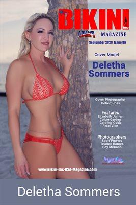BIKINI INC USA MAGAZINE COVER POSTER - Cover Model Deletha Sommers - September 2020
