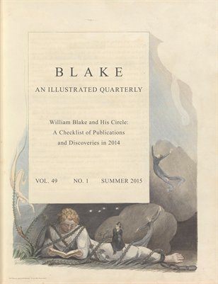 Blake/An Illustrated Quarterly vol. 49, no. 1 (summer 2015)