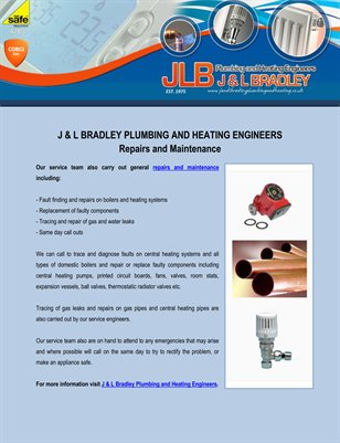 Repairs and Maintenance of J & L Bradley Plumbing and Heating Engineers