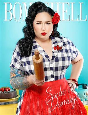 BOMBSHELL Magazine January BOOK 1 - Sadie von Damage Cover