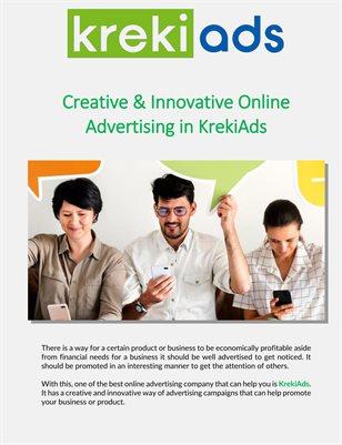 Creative & Innovative Online Advertising in KrekiAds