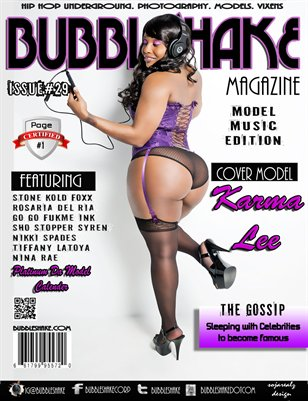 "BUBBLE SHAKE MAGAZINE ISSUE 29 "" MODEL MUSIC EDITION"""