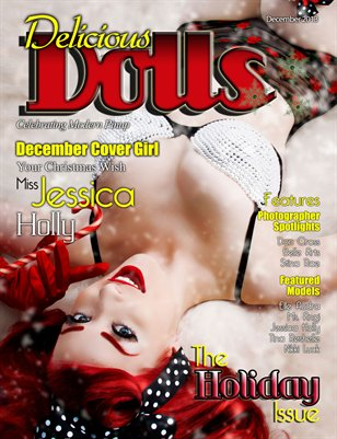 Delicious Dolls December 2013 Holiday Themed Issue Jessica Holly cover