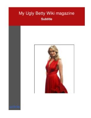 My Ugly Betty Wiki magazine