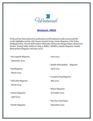 Westward : PRESS
