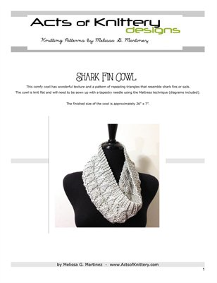Shark Fin Cowl Knitting Pattern