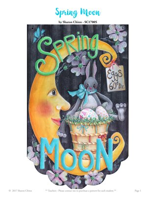 Spring Moon Painting Pattern Tutorial by Sharon Chinn SC17005