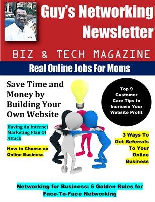 Guy's Networking Newsletter Biz and Tech Magazine September Issue