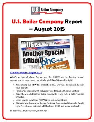 U.S. Boiler Company Report - August 2015