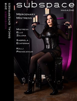subspace Magazine November issue - Mercenary Mistress cover edition