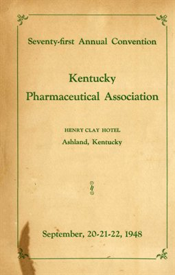 75th Annual Convention, Kentucky Pharmaceutical Association, Boyd County, KY