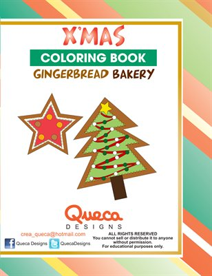Gingerbread Bakery Coloring Book