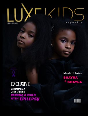 FEBRUARY LUXE KID COVER MODELS IDENTICAL TWINS SHAYNA & SHAYLA PINDER