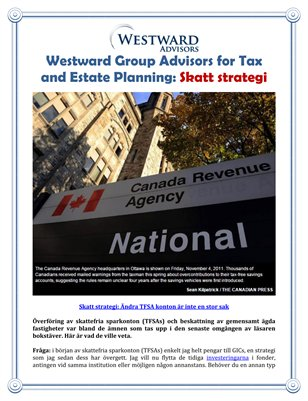 Westward Group Advisors for Tax and Estate Planning: Skatt strategi