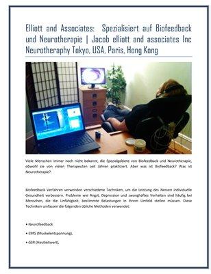 Elliott and Associates:  Spezialisiert auf Biofeedback und Neurotherapie