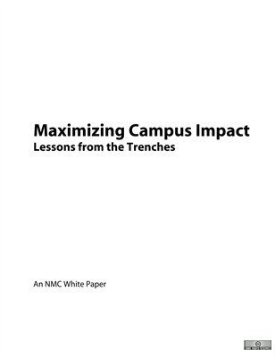 Maximizing Campus Impact: Lessons from the Trenches