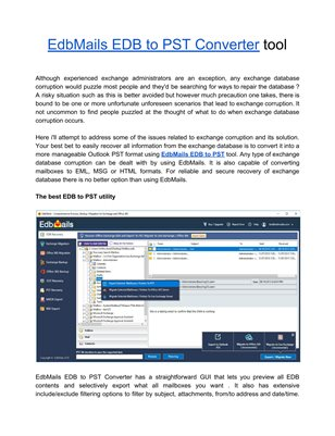 EdbMails for Exchange Server Recovery
